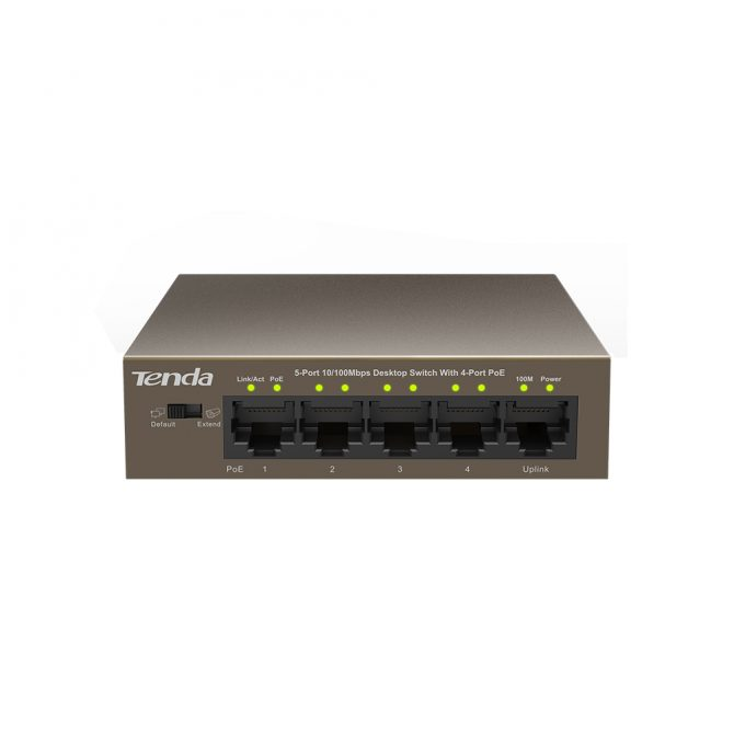 5 Port Switch Extender with 4 Port PoE