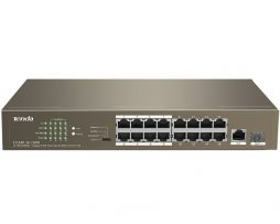 16 Port Ethernet Switch with 16 Port PoE SW-TEF1118P-16-150W