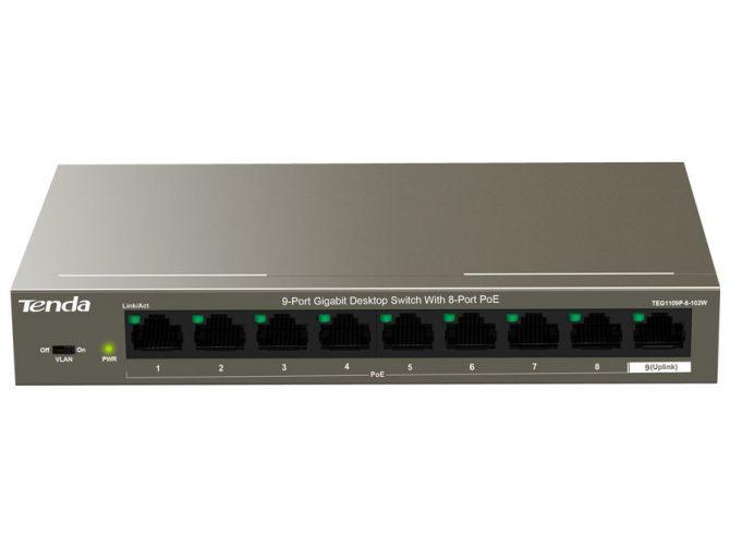 9 Port Gigabit Desktop Switch with 8 Port PoE