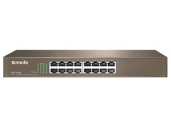 16 Port 10/100Base-TX Fast Ethernet Switch Rackmount