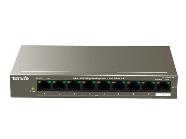 9 Port Desktop Switch with 8 Port PoE