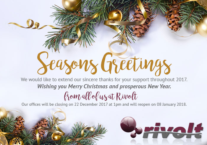 Seasons Greetings & Closing Times