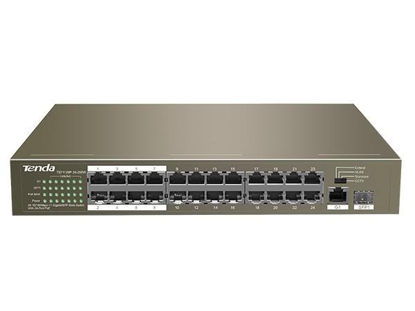 24 Port Ethernet Switch with 24 Port PoE SW-TEF1126P-24-250W