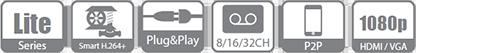 32 Channel Dahua Penta-brid 1080P DVR