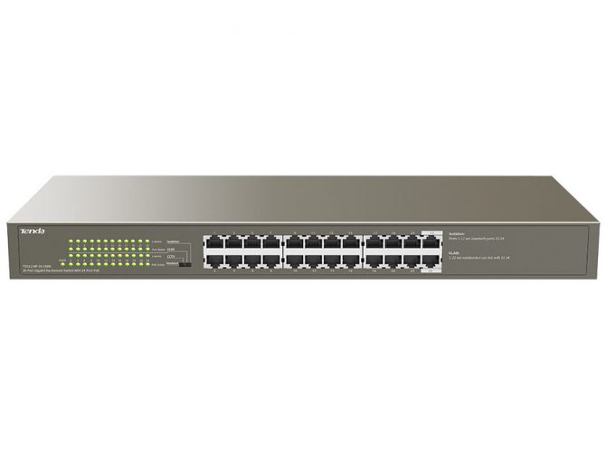 24 Port Smart PoE Switch 250W Gigabit
