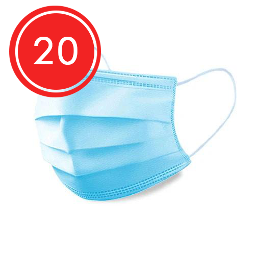 3 Ply Disposable Medical Face Mask - 20 Pack