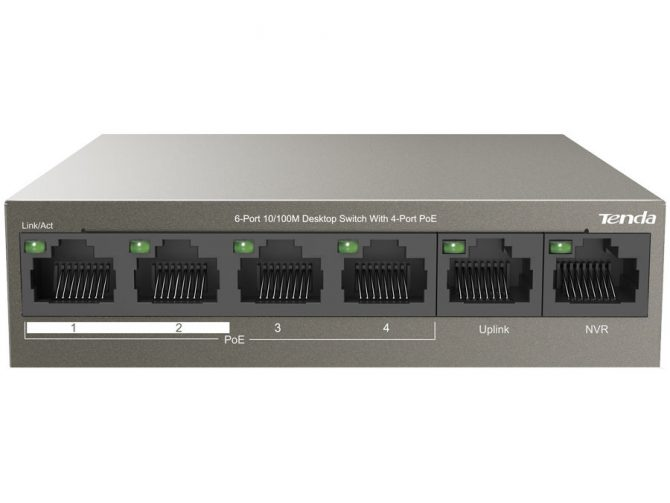 6 Port Desktop Switch with 4 Port PoE